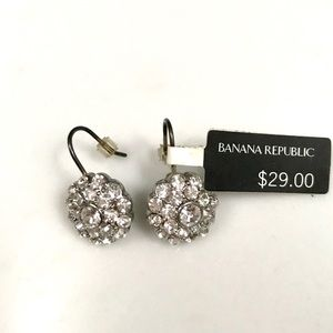 Crystal and silver Earrings. Banana Republic